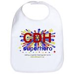 CDH Superhero Stars Logo for Boys Bib