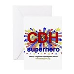 CDH Superhero Stars Logo for Boys Greeting Card
