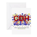 CDH Superhero Stars Logo for Boys Greeting Cards (