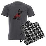 Scottish Terrier Men's Charcoal Pajamas