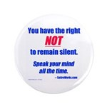 "Right NOT to remain silent! 3.5"" Button (100"