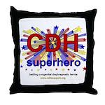 CDH Superhero Stars Logo for Boys Throw Pillow