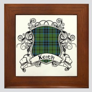 Keith Tartan Shield Framed Tile