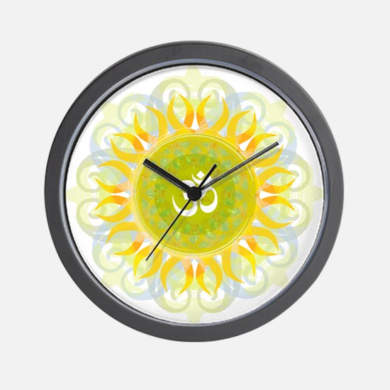 Om Mandala Wall Clock