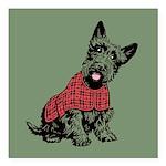 "Scottish Terrier Square Car Magnet 3"" x 3"""