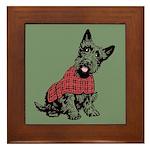 Scottish Terrier Framed Tile