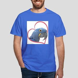 Hyacinth Macaw Heartline Dark T-Shirt