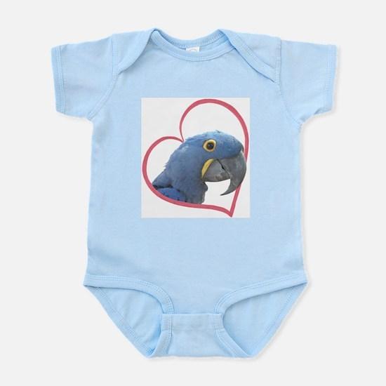 Hyacinth Macaw Heartline Infant Bodysuit