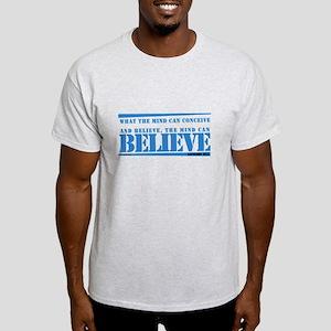 Blue Napoleon Hill Quote Light T-Shirt