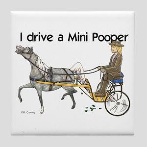 Mini Pooper Tile Coaster