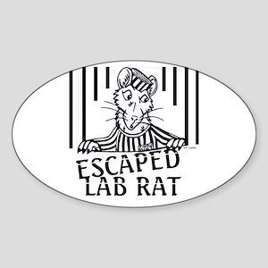 Escaped Lab Rat Oval Sticker