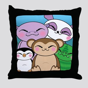 Charmingly Cheeky Animals Pillow
