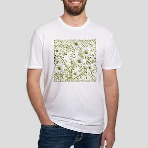 Pop Art Tatoo Daisy Grn Bckgr Fitted T-Shirt