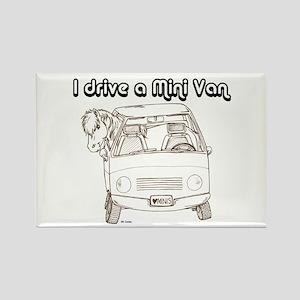 Blk I Drive A Mini Van Rectangle Magnet
