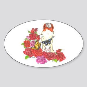 Mini MHF Roses Oval Sticker
