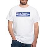 Help Support Satire Works White T-Shirt