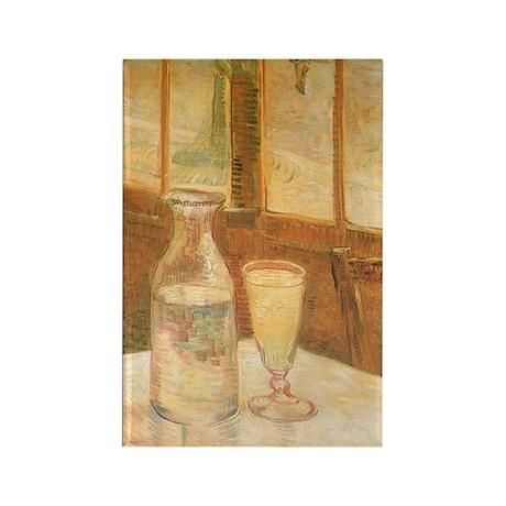 Van Gogh Still Life Absinthe Rectangle Magnet (10