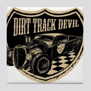Dirt Track Devil Tile Coaster