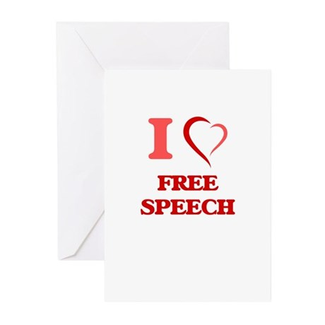 I love Free Speech Greeting Cards by Admin_CP10501932