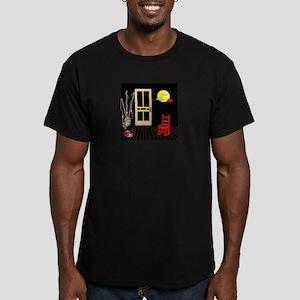 Pop Art Back Porch Men's Fitted T-Shirt (dark)