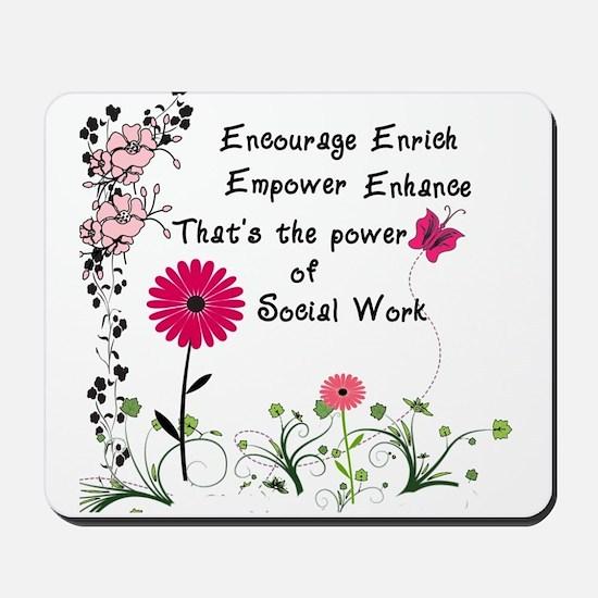 Power of Social Work Mousepad