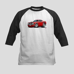Dodge Demon Red Car Kids Baseball Jersey