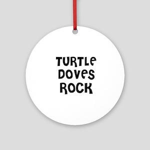 TURTLE DOVES ROCK Ornament (Round)