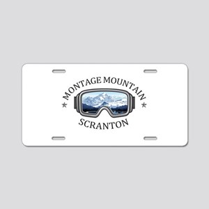 Montage Mountain Ski Resort Aluminum License Plate