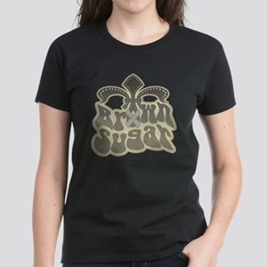 Brown Sugar Fleur De Lis Women's Dark T-Shirt