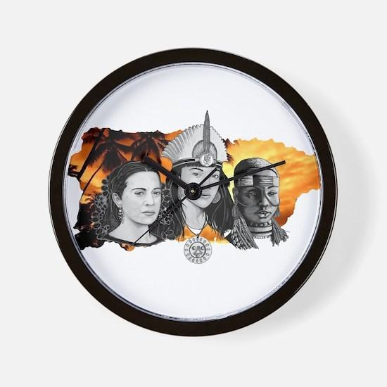 MI RAZA WOMEN WITH BORIKEN Wall Clock