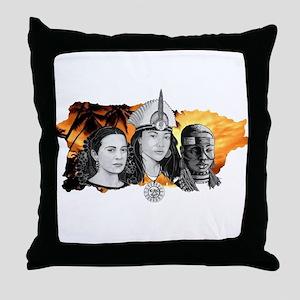 MI RAZA WOMEN WITH BORIKEN Throw Pillow