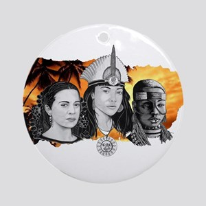 MI RAZA WOMEN WITH BORIKEN Ornament (Round)