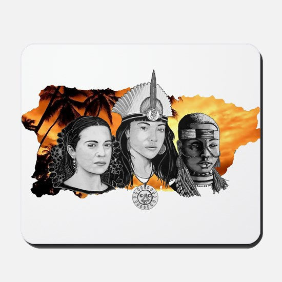MI RAZA WOMEN WITH BORIKEN Mousepad
