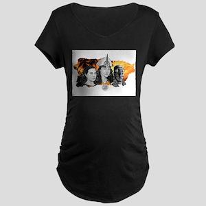 MI RAZA WOMEN WITH BORIKEN Maternity Dark T-Shirt