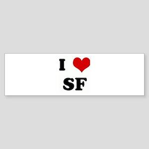 I Love SF Bumper Sticker