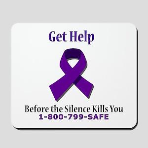 Purple Ribbon Mousepad