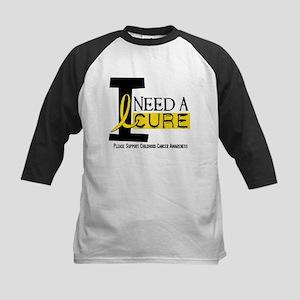 I Need A Cure 1 CHILDHOOD CANCER Kids Baseball Jer