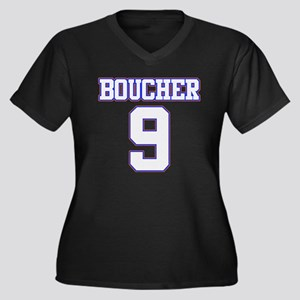 Boucher Women's Plus Size V-Neck Dark T-Shirt