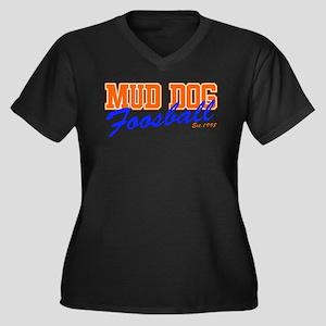 FOOSBALL! Women's Plus Size V-Neck Dark T-Shirt