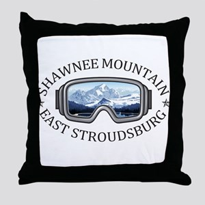 Shawnee Mountain Ski Area - East St Throw Pillow