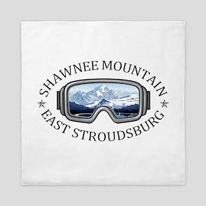 Shawnee Mountain Ski Area - East Str Queen Duvet