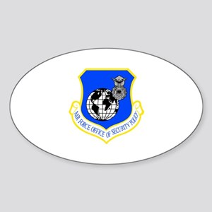 Security Police Oval Sticker
