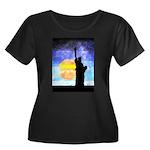 Majestic Lady Liberty Plus Size T-Shirt