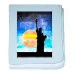 Majestic Lady Liberty baby blanket