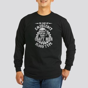 Craft Beer Blood Type T Shirt Long Sleeve T-Shirt