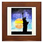 Majestic Lady Liberty Framed Tile