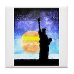 Majestic Lady Liberty Tile Coaster