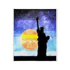 Majestic Lady Liberty Throw Blanket