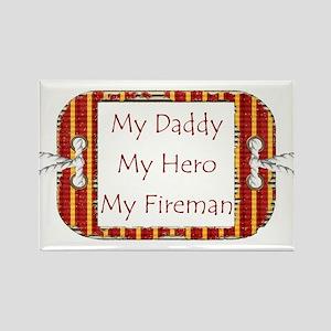Daddy Fireman Rectangle Magnet