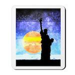 Majestic Lady Liberty Mousepad